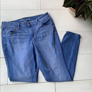 Old Navy rockstar mid rise distressed jeans